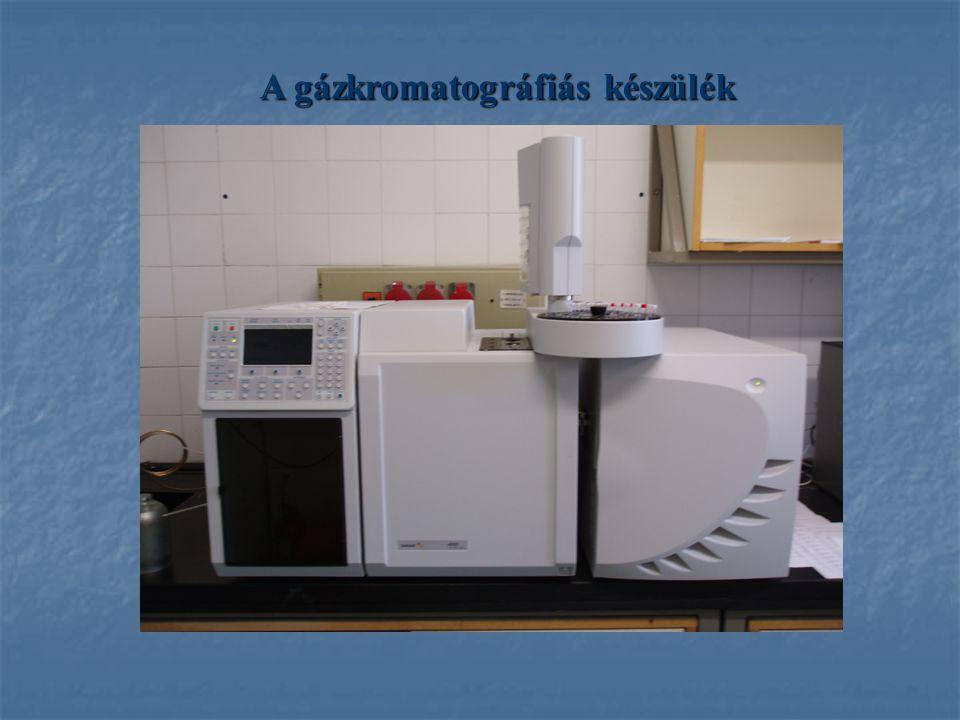A gázkromatográfiás készülék