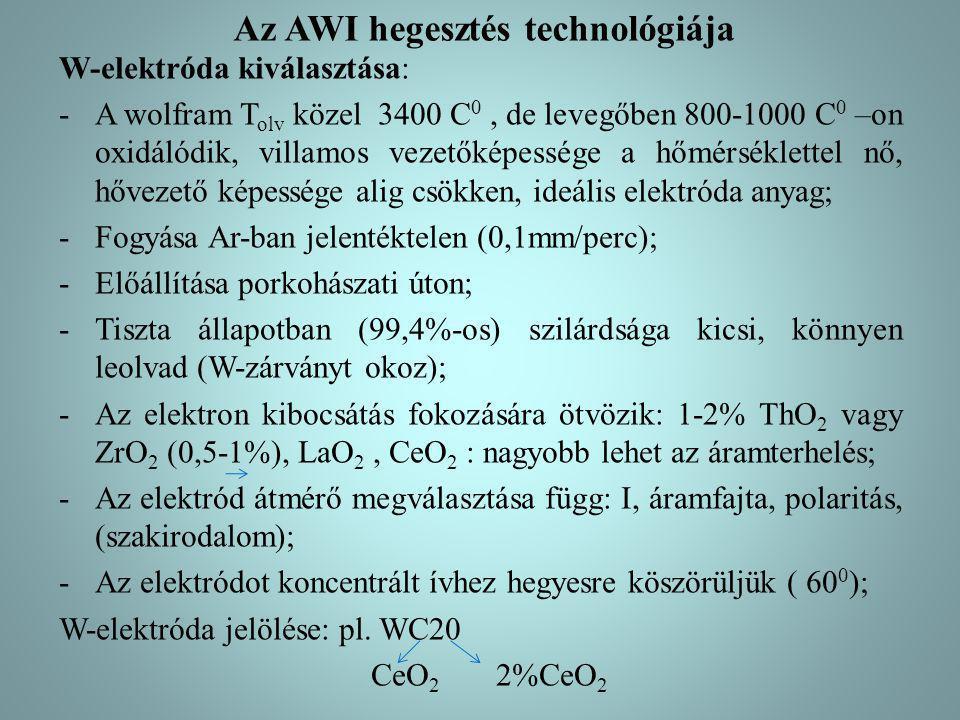 Az AWI hegesztés technológiája