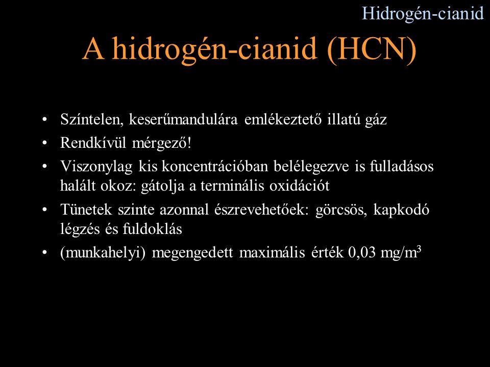 A hidrogén-cianid (HCN)