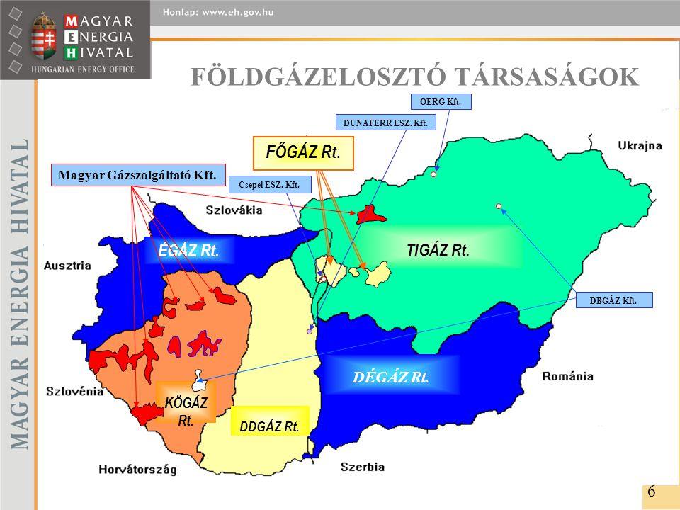 FÖLDGÁZELOSZTÓ TÁRSASÁGOK