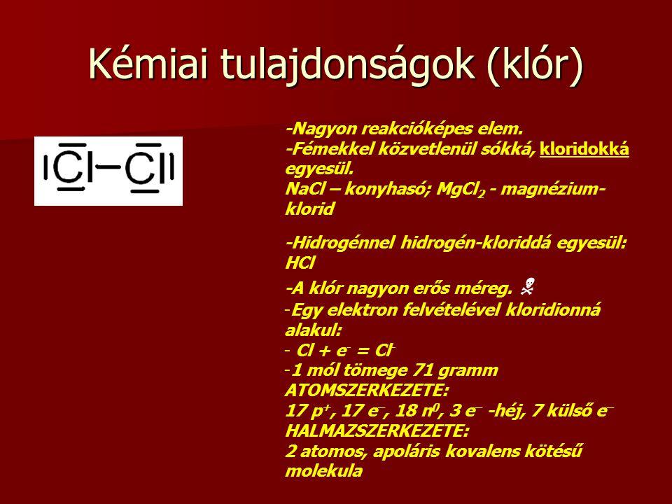 Kémiai tulajdonságok (klór)