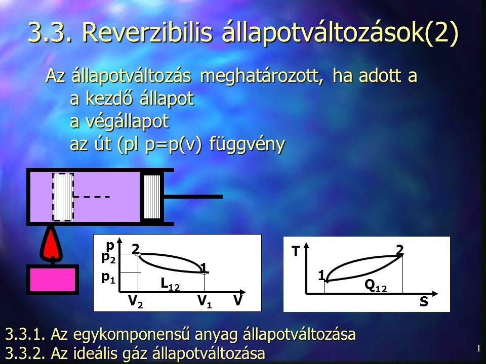 3.3. Reverzibilis állapotváltozások(2)