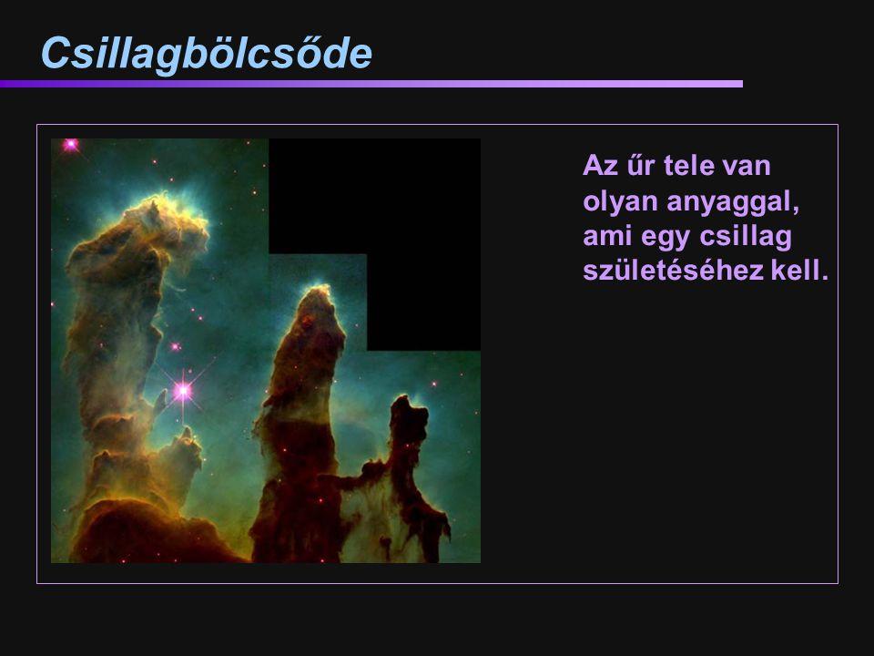Csillagbölcsőde Az űr tele van olyan anyaggal, ami egy csillag születéséhez kell. M16 – Sas-köd, a Teremtés Oszlopai.