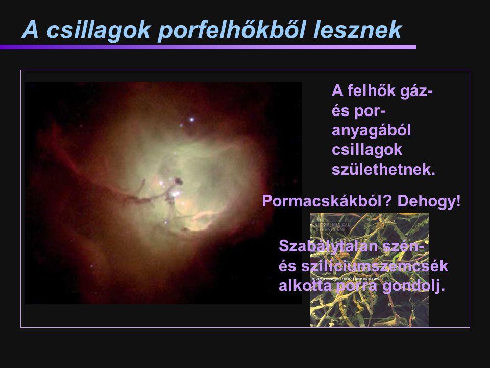 A csillagok porfelhőkből lesznek