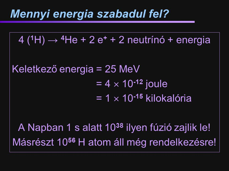 Mennyi energia szabadul fel