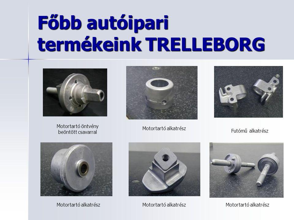 Főbb autóipari termékeink TRELLEBORG