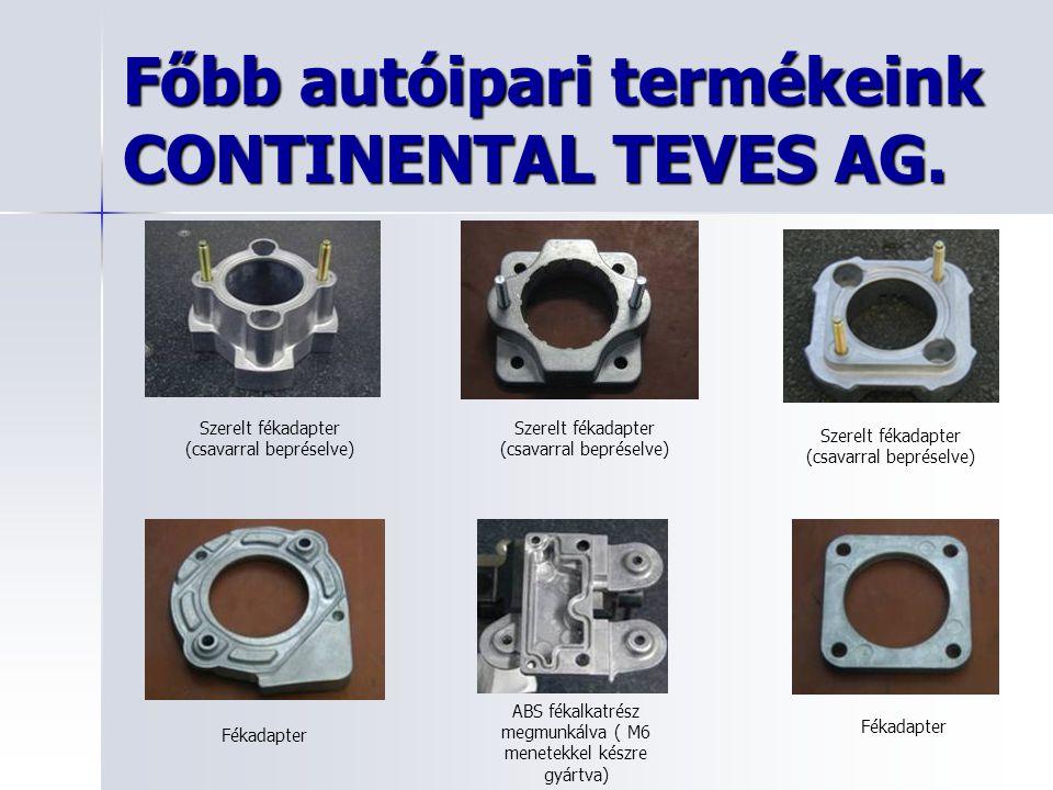 Főbb autóipari termékeink CONTINENTAL TEVES AG.