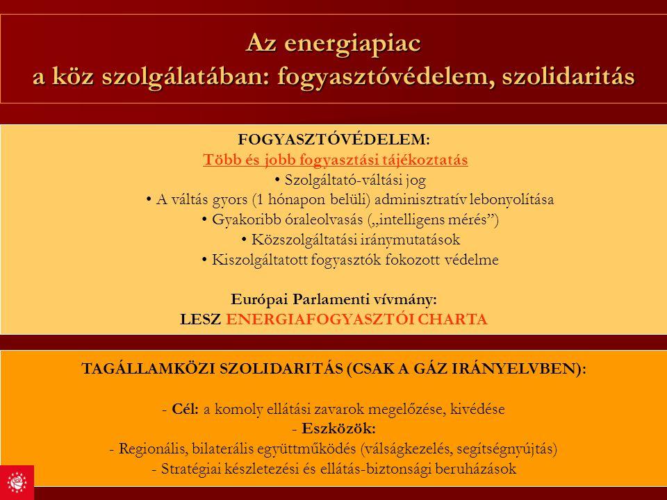 Az energiapiac a köz szolgálatában: fogyasztóvédelem, szolidaritás