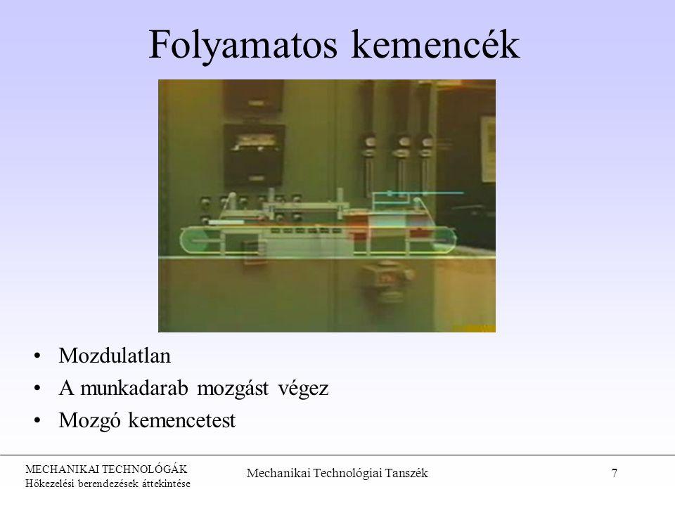 Mechanikai Technológiai Tanszék