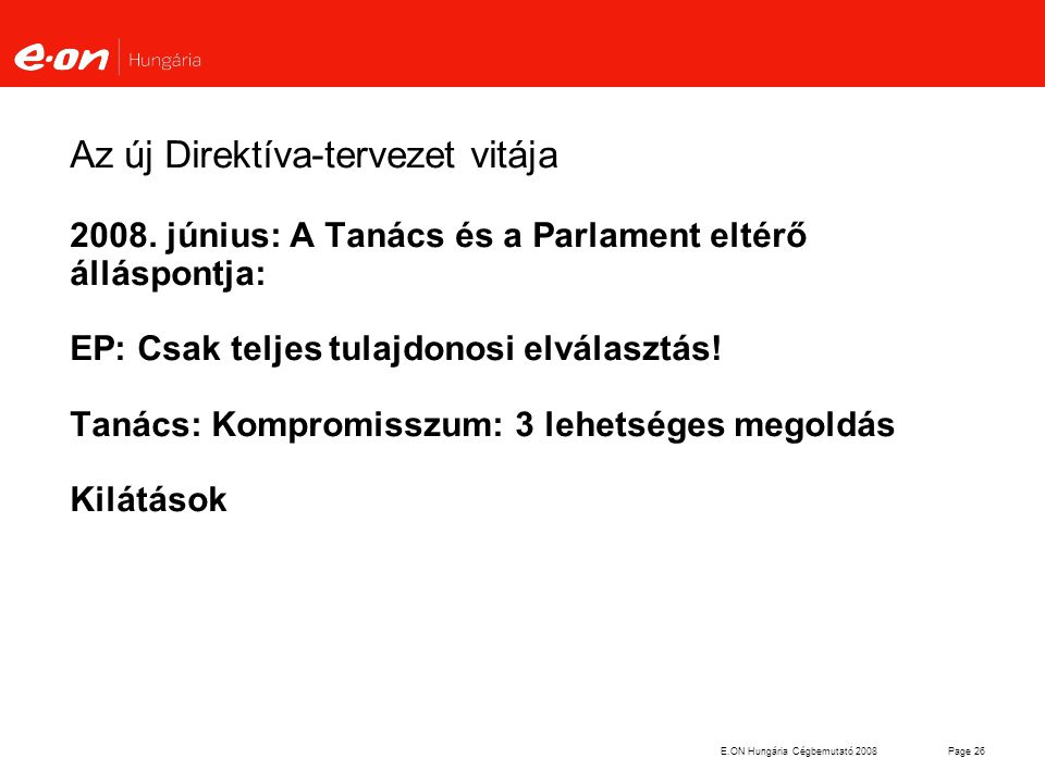 Az új Direktíva-tervezet vitája