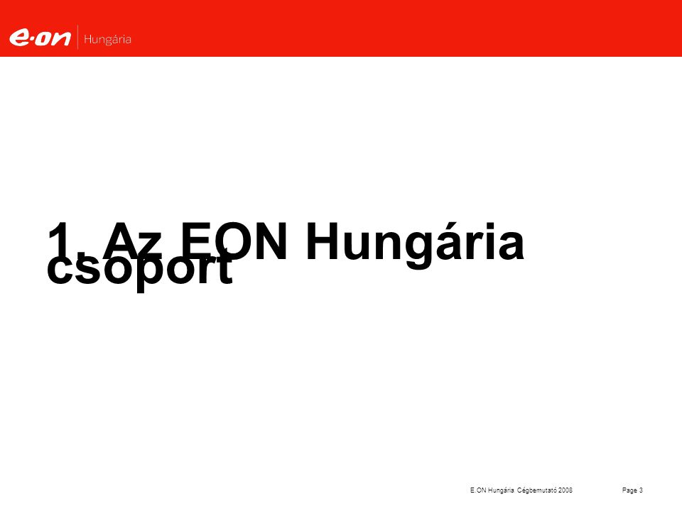 1. Az EON Hungária csoport
