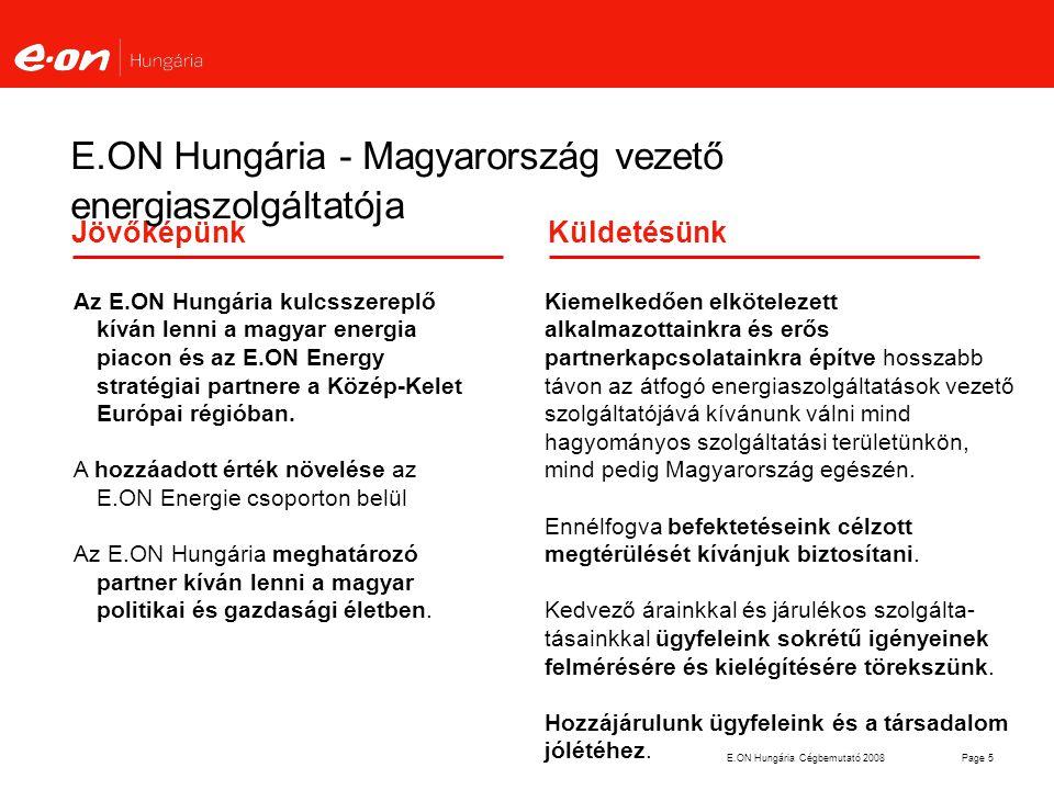 E.ON Hungária - Magyarország vezető energiaszolgáltatója