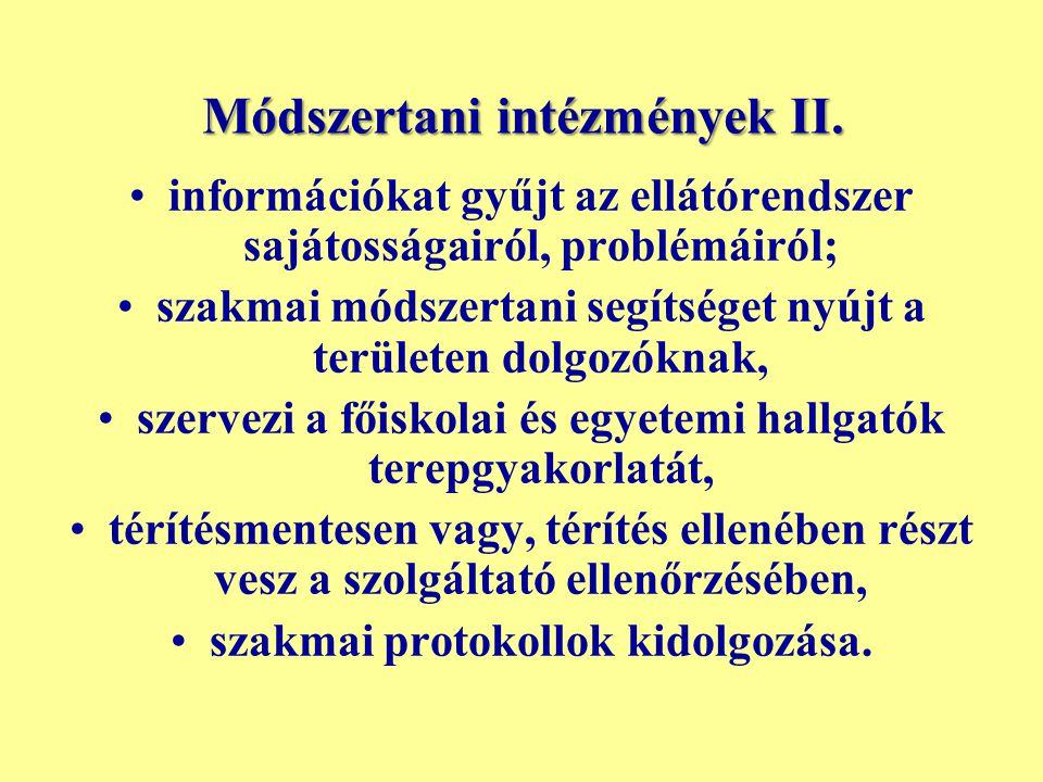 Módszertani intézmények II.