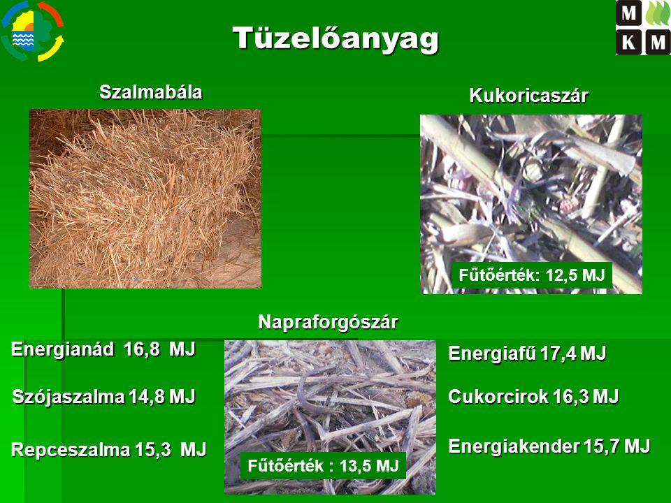 Tüzelőanyag Szalmabála Kukoricaszár Fűtőérték: 14,5 MJ Napraforgószár