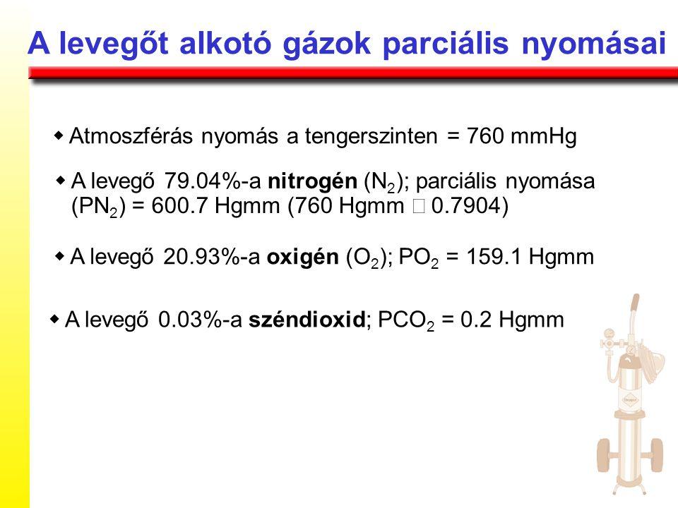 A levegőt alkotó gázok parciális nyomásai