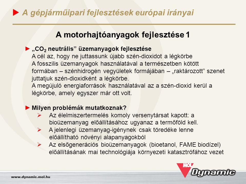 A gépjárműipari fejlesztések európai irányai