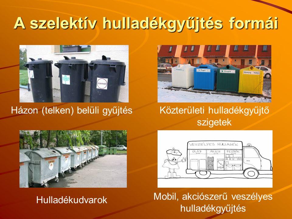 A szelektív hulladékgyűjtés formái