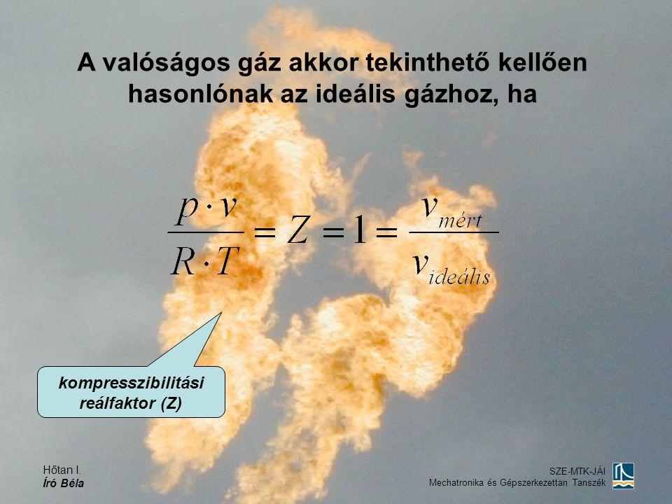 kompresszibilitási reálfaktor (Z)