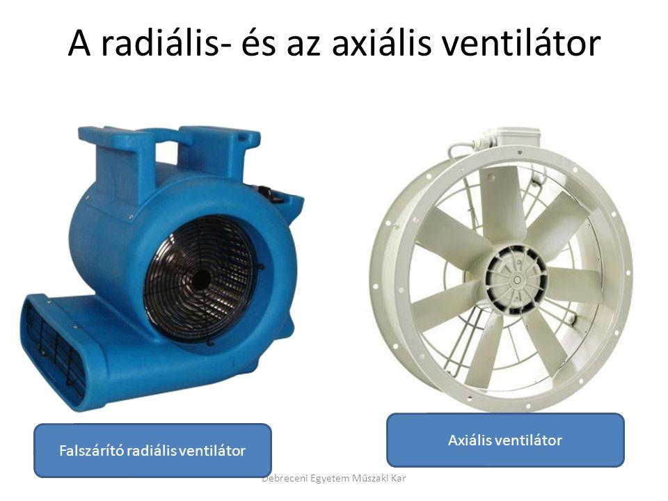 A radiális- és az axiális ventilátor