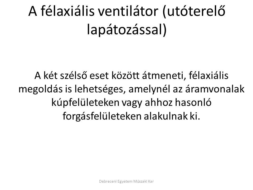 A félaxiális ventilátor (utóterelő lapátozással)