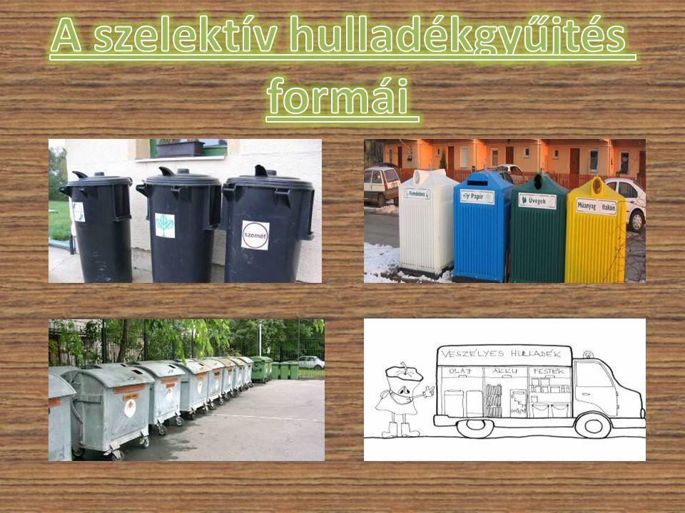 A szelektív hulladékgyűjtés