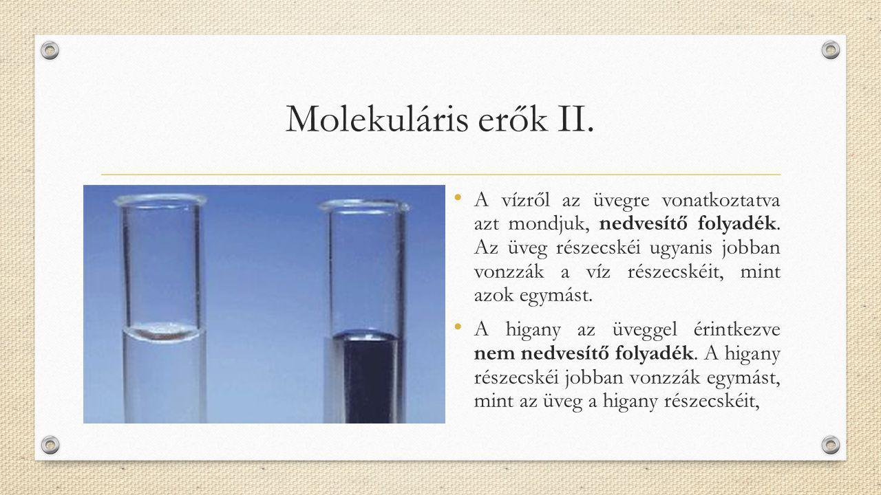Molekuláris erők II.