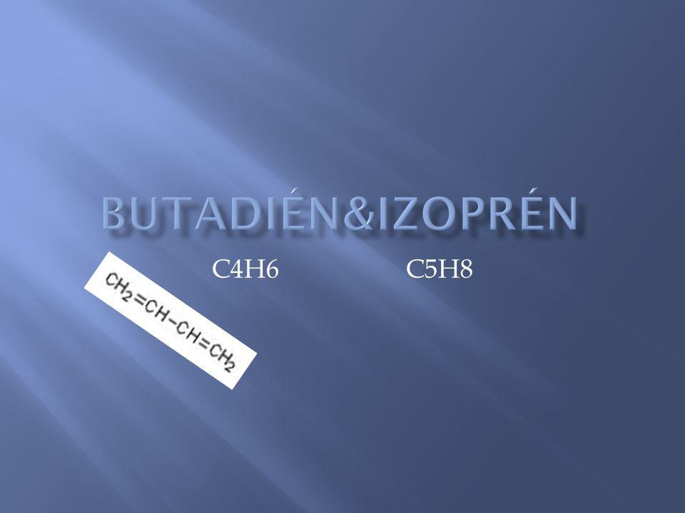 Butadién&izoprén C4H6 C5H8
