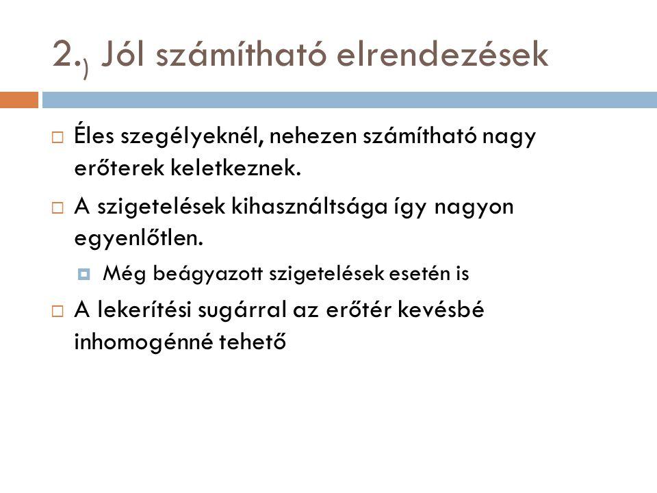2.) Jól számítható elrendezések