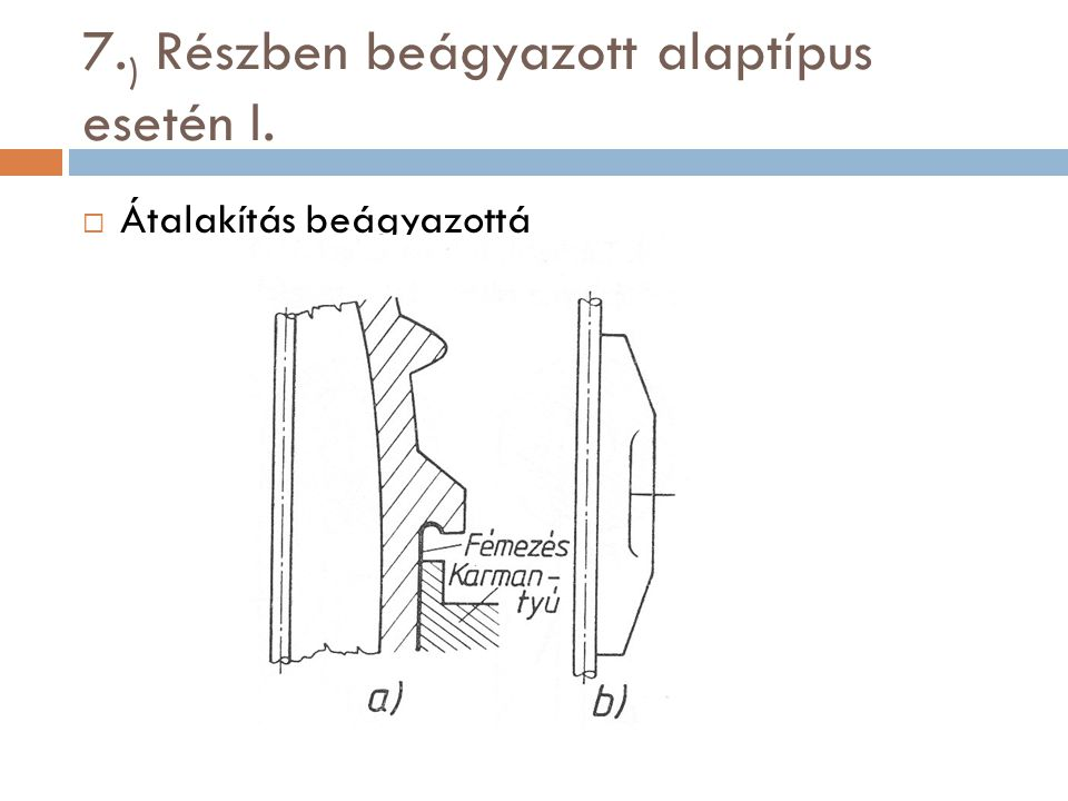 7.) Részben beágyazott alaptípus esetén I.
