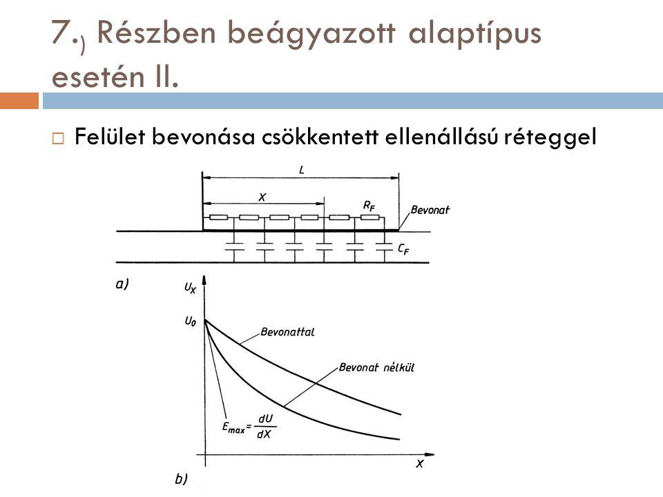 7.) Részben beágyazott alaptípus esetén II.