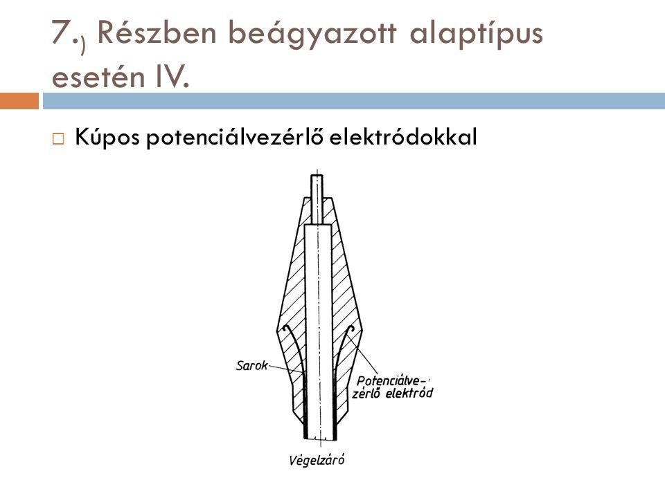7.) Részben beágyazott alaptípus esetén IV.