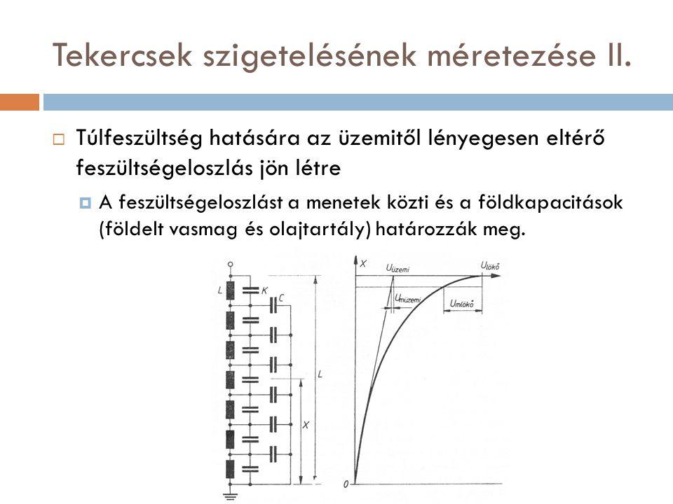 Tekercsek szigetelésének méretezése II.