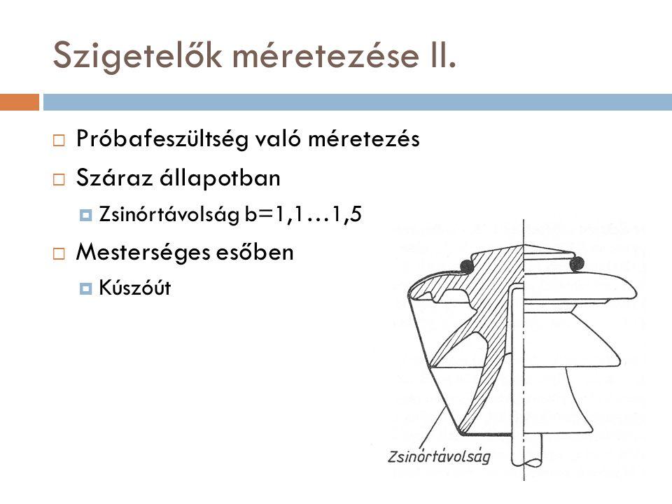 Szigetelők méretezése II.