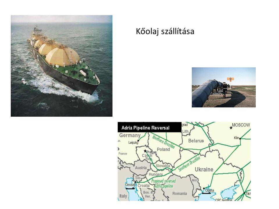 Kőolaj szállítása