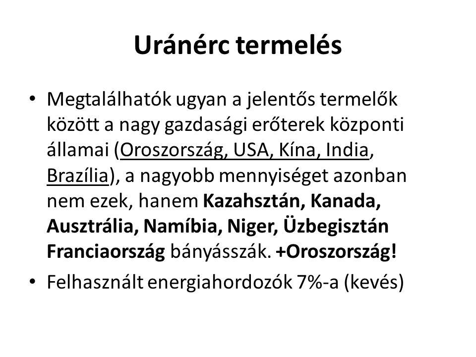 Uránérc termelés