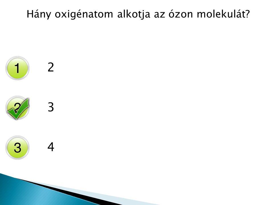 Hány oxigénatom alkotja az ózon molekulát