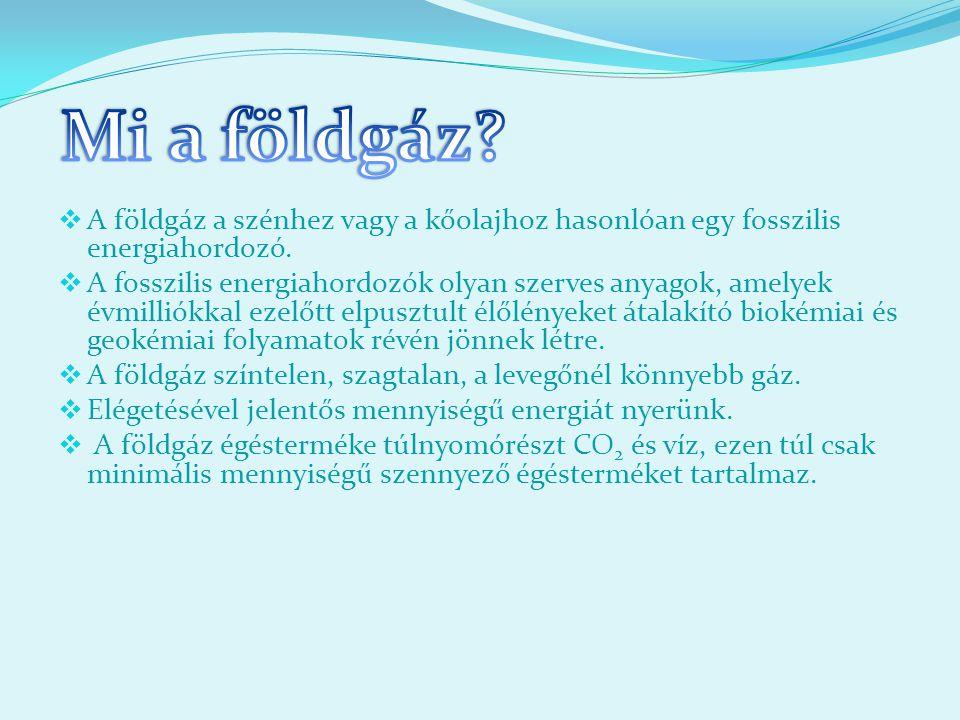 Mi a földgáz A földgáz a szénhez vagy a kőolajhoz hasonlóan egy fosszilis energiahordozó.