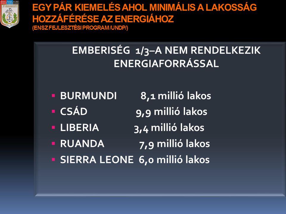 EMBERISÉG 1/3–A NEM RENDELKEZIK ENERGIAFORRÁSSAL