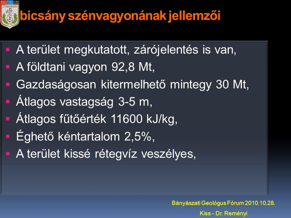 Dubicsány szénvagyonának jellemzői