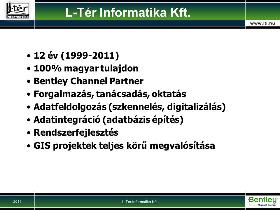 L-Tér Informatika Kft. 12 év (1999-2011) 100% magyar tulajdon