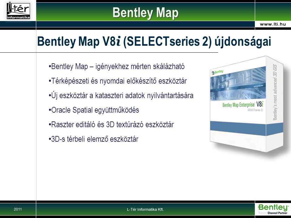Bentley Map Bentley Map V8i (SELECTseries 2) újdonságai