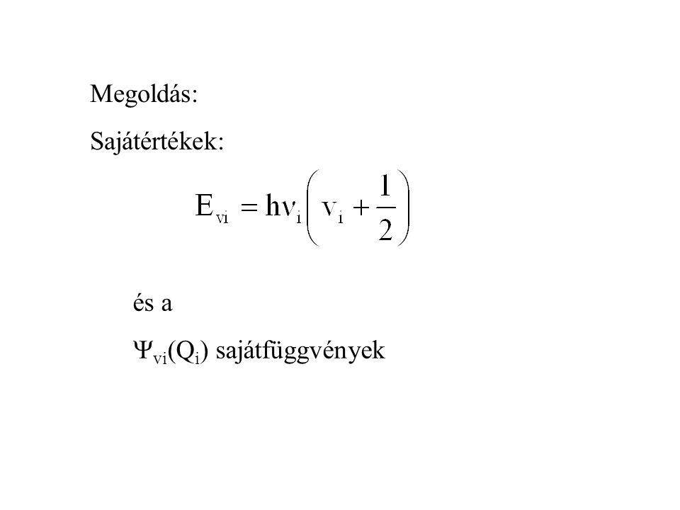Megoldás: Sajátértékek: és a vi(Qi) sajátfüggvények