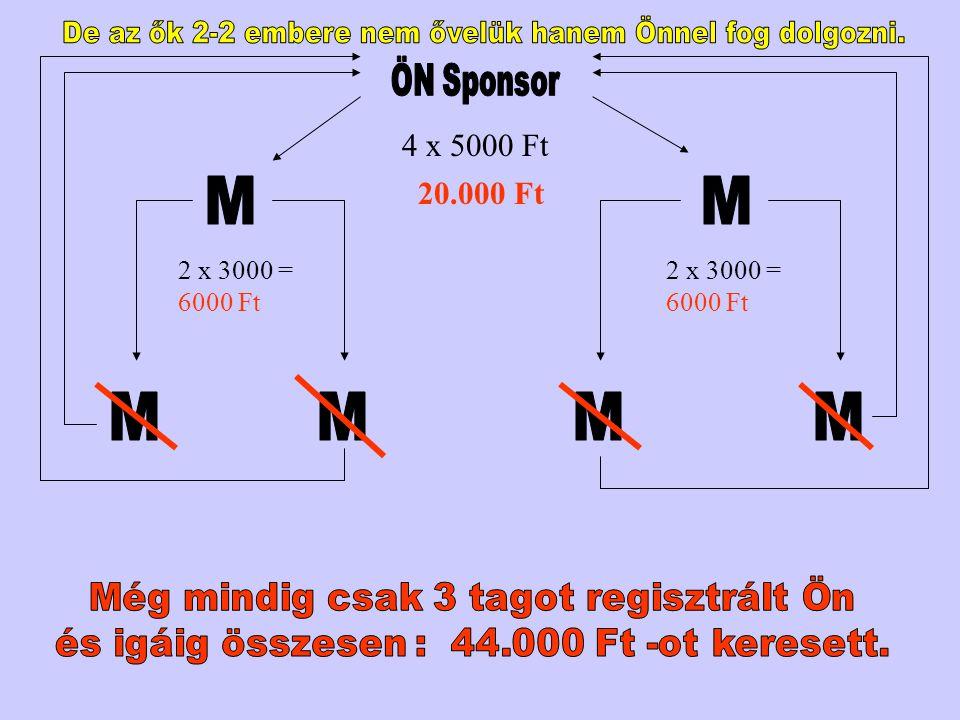 M M M M M M 4 x 5000 Ft 20.000 Ft ÖN Sponsor 2 x 3000 = 6000 Ft