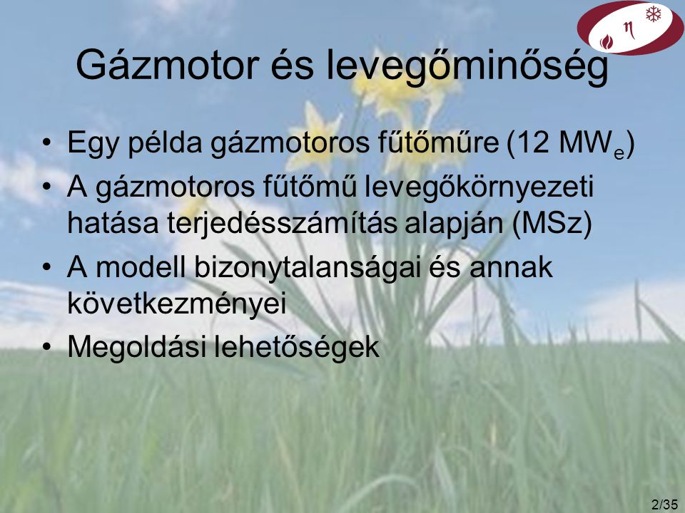 Gázmotor és levegőminőség