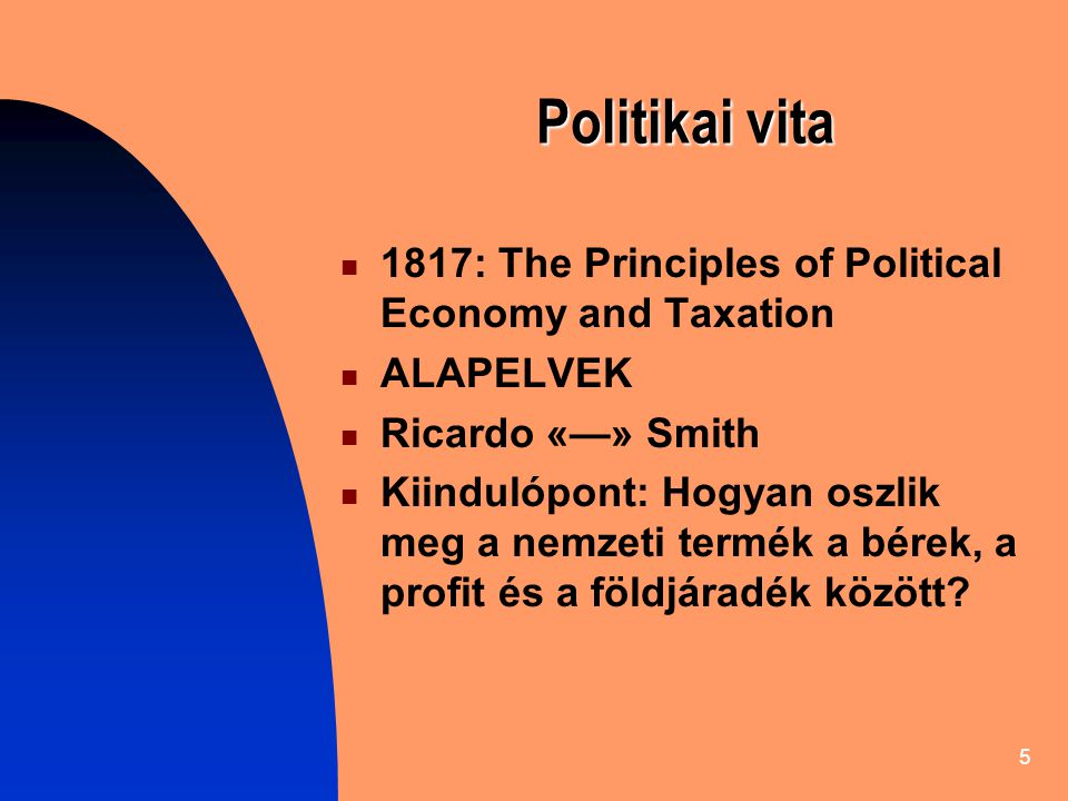 Politikai vita 1817: The Principles of Political Economy and Taxation