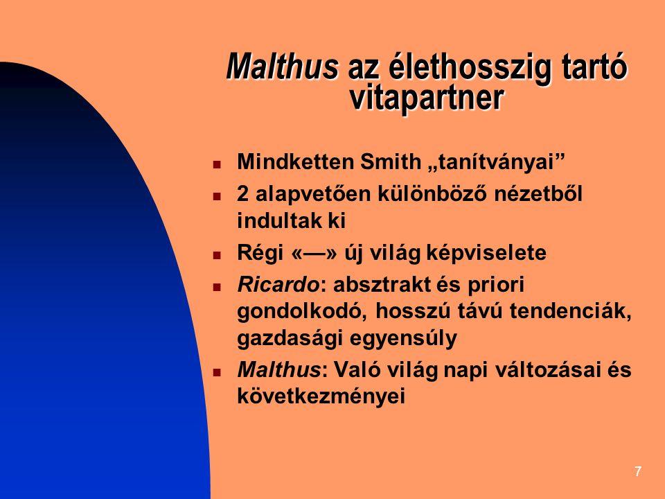 Malthus az élethosszig tartó vitapartner