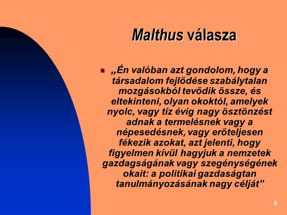 Malthus válasza