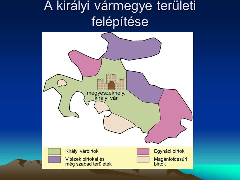 A királyi vármegye területi felépítése