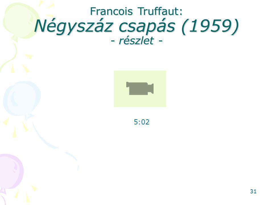 Francois Truffaut: Négyszáz csapás (1959) - részlet -