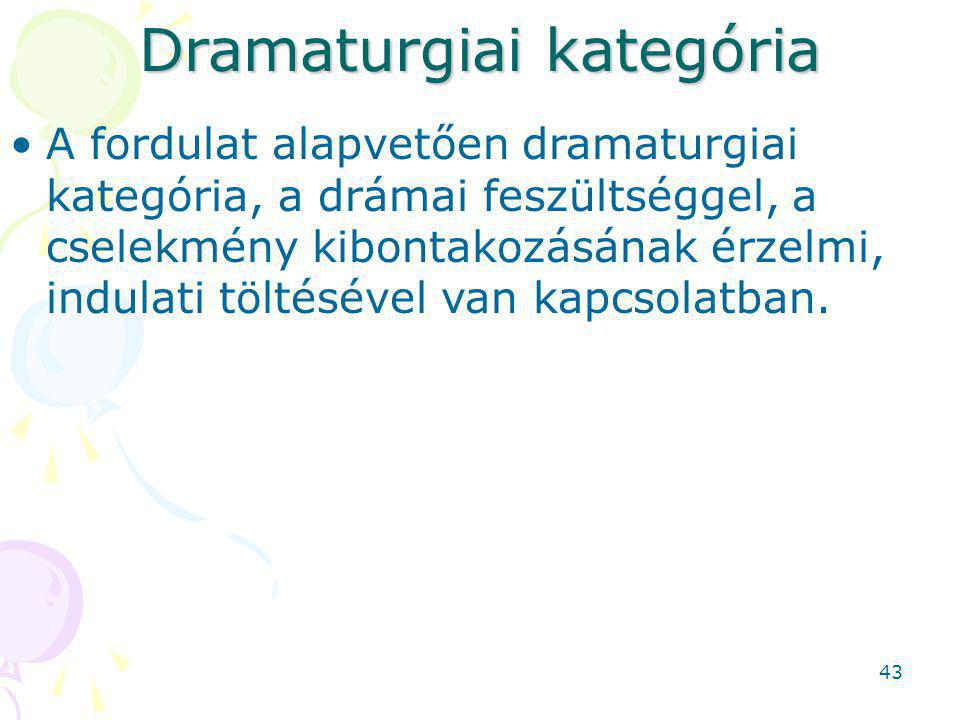 Dramaturgiai kategória